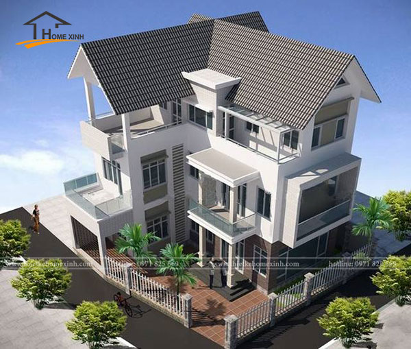 Thiết kế biệt thự 3 tầng hợp phong thủy