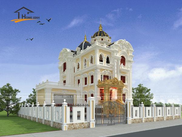 Thiết kế biệt thự 3 tầng tân cổ điển tại Hòa Bình 1