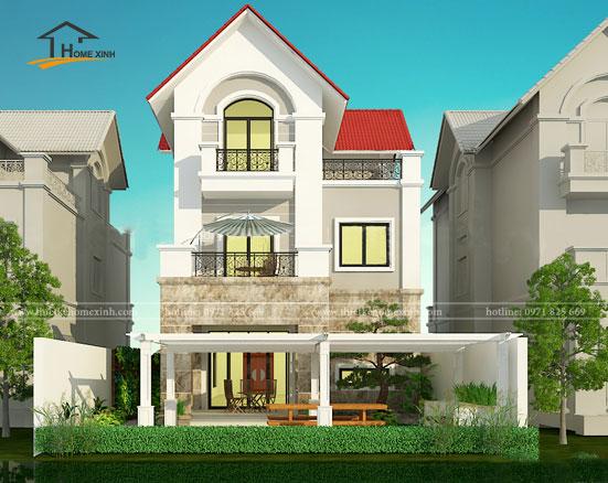 Thiết kế biệt thự 3 tầng hiện đại tại Bắc Ninh 1
