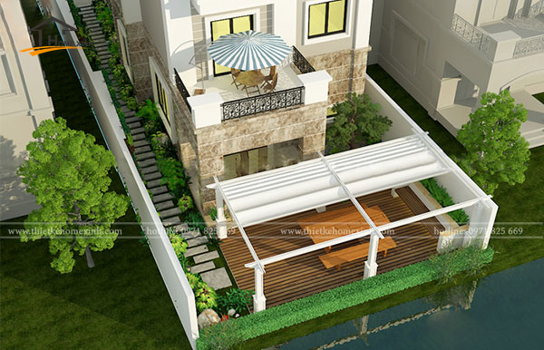Thiết kế biệt thự 3 tầng hiện đại tại Bắc Ninh 2