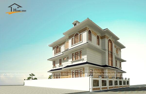 Thiết kế biệt thự 3 tầng tân cổ điển tại Vĩnh Phúc 4