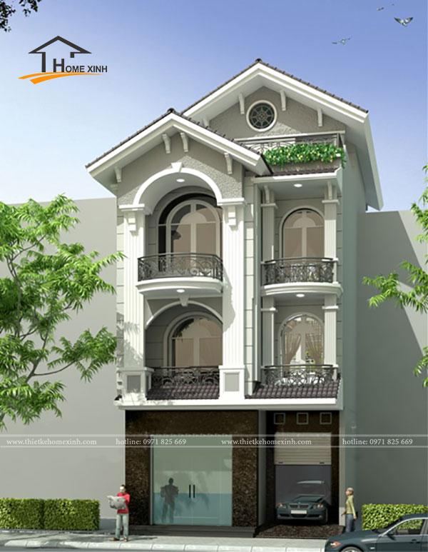 Biệt thự 3 tầng tân cổ điển - ảnh 4