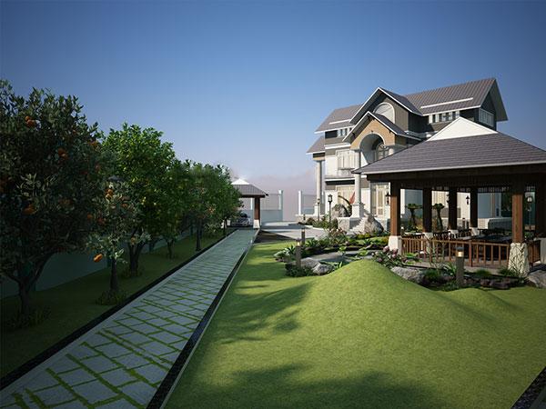 Thiết kế biệt thự vườn 15