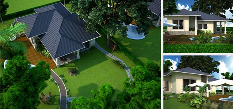 Thiết kế nhà vườn 1 tầng đẹp