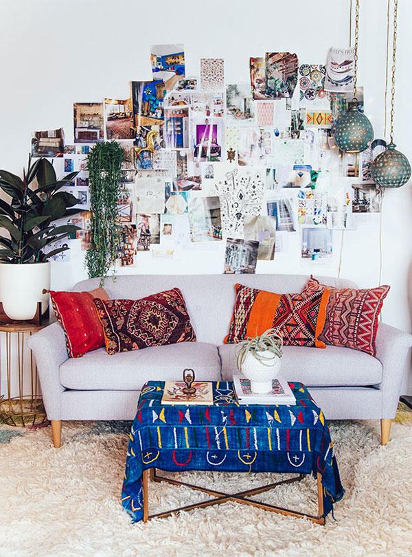 Tranh trang trí trong nội thất phong cách Bohemian