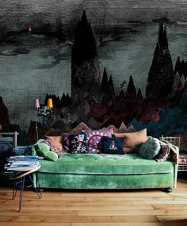 Màu sắc tường nhà trong căn phòng bohemian