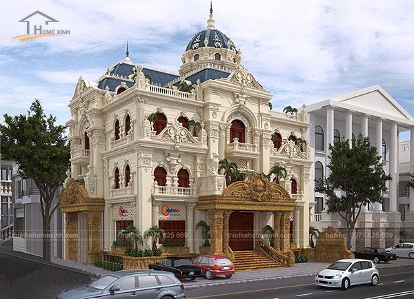 Thiết kế biệt thự cổ điển kiểu Pháp - ảnh 1