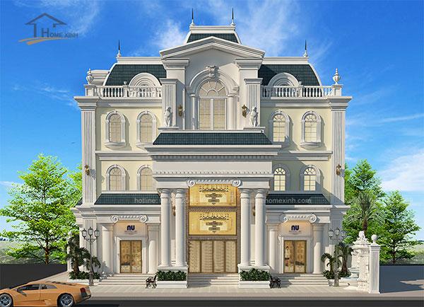 Thiết kế biệt thự cổ điển kiểu Pháp - ảnh 9