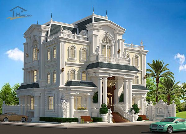 Thiết kế biệt thự cổ điển kiểu Pháp - ảnh 3