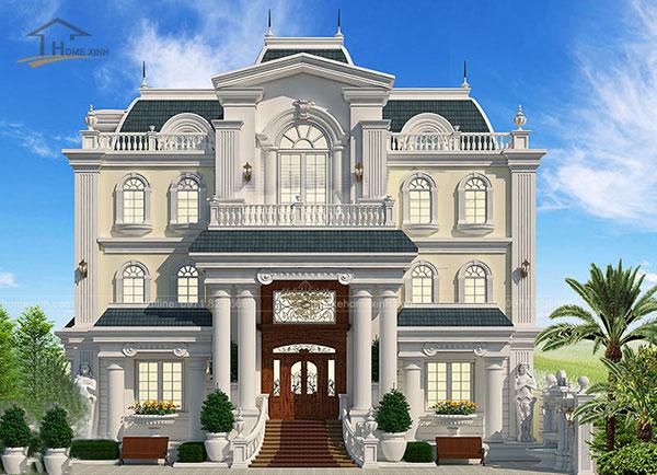 Thiết kế biệt thự cổ điển kiểu Pháp - ảnh 4