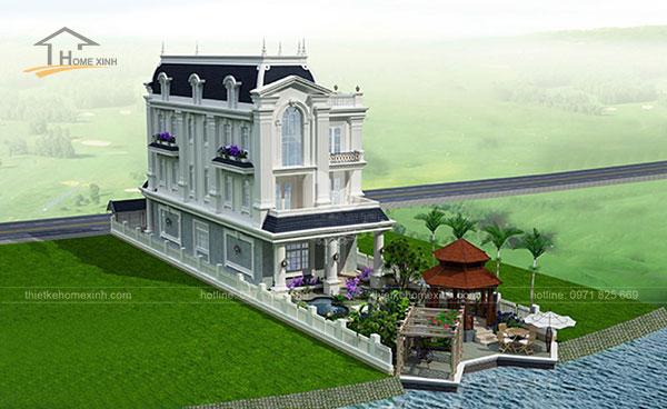 Thiết kế biệt thự cổ điển kiểu Pháp - ảnh 7