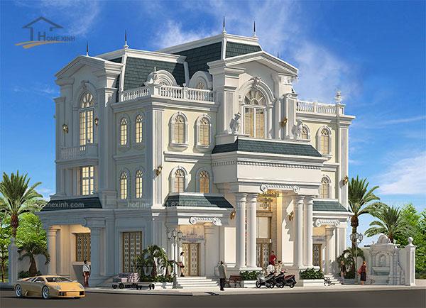 Thiết kế biệt thự cổ điển kiểu Pháp - ảnh 8