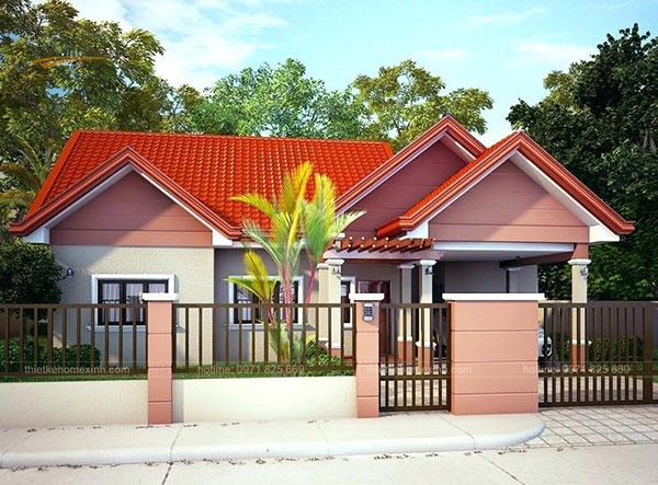Thiết kế biệt thự mái thái 1 tầng - ảnh 3
