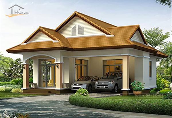 Thiết kế biệt thự mái thái 1 tầng - ảnh 5
