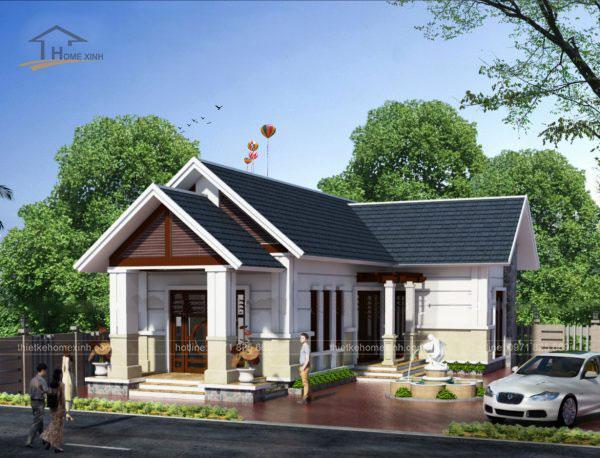 Thiết kế biệt thự mái thái 1 tầng - ảnh 6