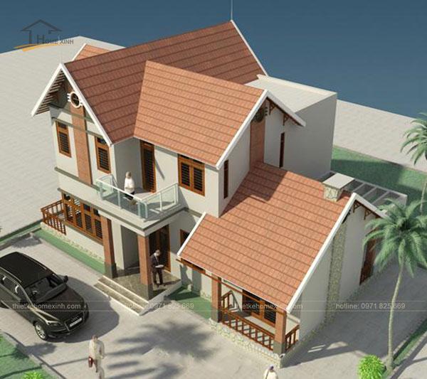 Thiết kế biệt thự mái thái 2 tầng - ảnh 2