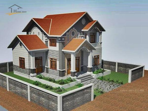 Thiết kế biệt thự mái thái 2 tầng - ảnh 3