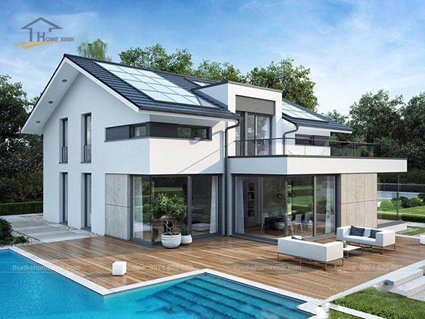 Thiết kế biệt thự mái thái 2 tầng - ảnh 4
