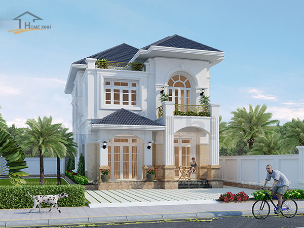 Thiết kế biệt thự mái thái 2 tầng - ảnh 5