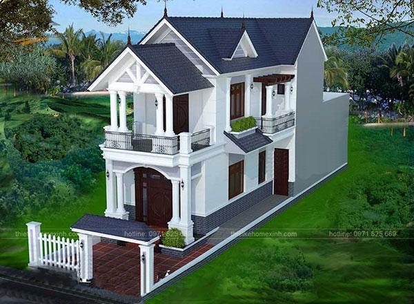 Thiết kế biệt thự mái thái 2 tầng - ảnh 6