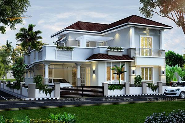 Thiết kế biệt thự mái thái 2 tầng - ảnh 7