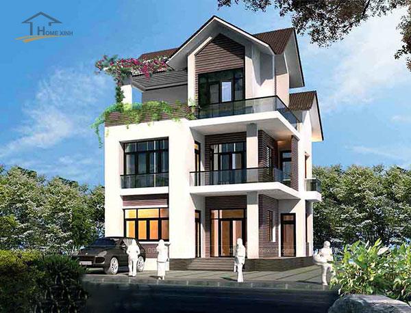 Thiết kế biệt thự mái thái 3 tầng - ảnh 4