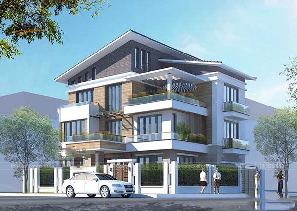 Thiết kế biệt thự mái thái 3 tầng - ảnh 5