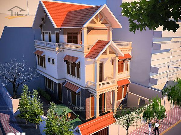 Thiết kế biệt thự mái thái 3 tầng - ảnh 6