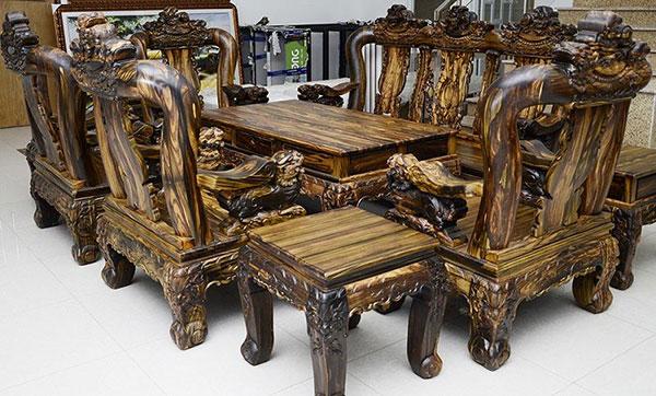 Gỗ Mun, các loại gỗ tự nhiên dùng trong nội thất