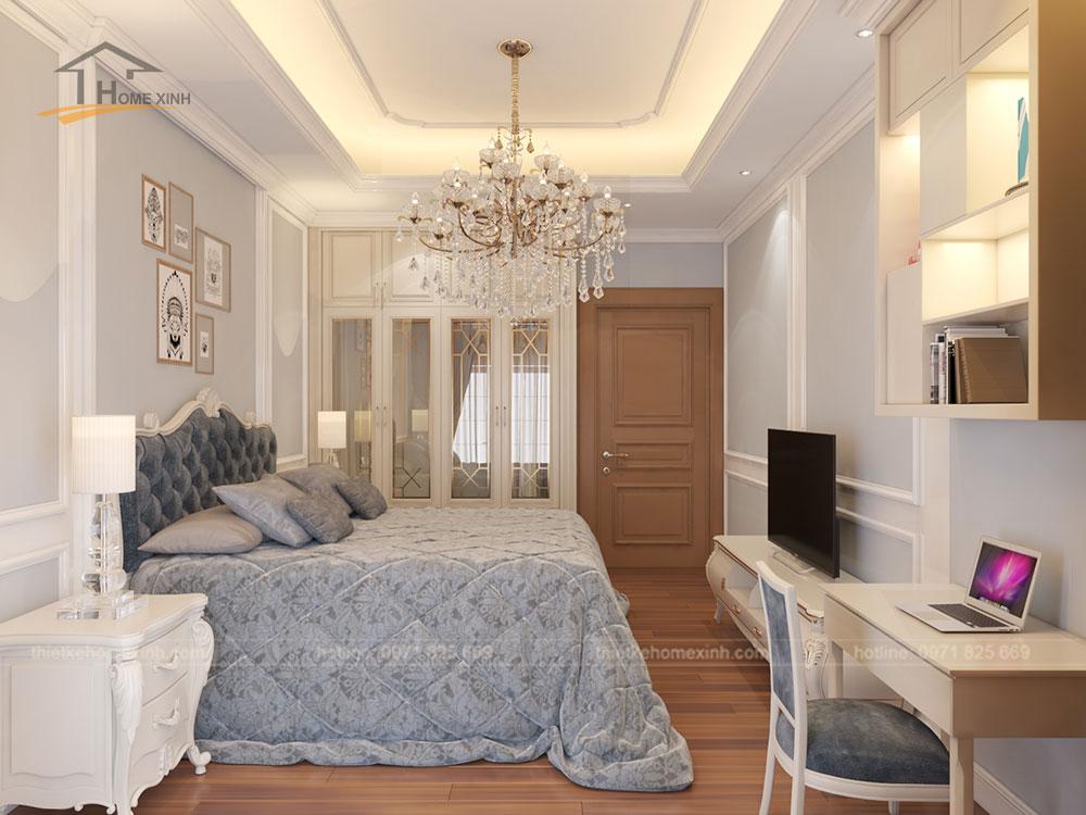 Phòng ngủ bé nhà phố tân cổ điển