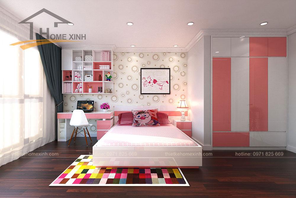 Phòng ngủ con gái căn 2212 chung cư Sunshine Palace - ảnh 1