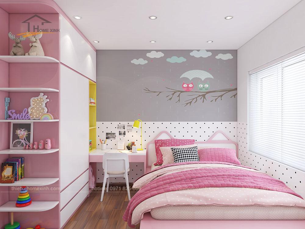 Phòng ngủ con gái căn 06 tòa A1 - ảnh 1