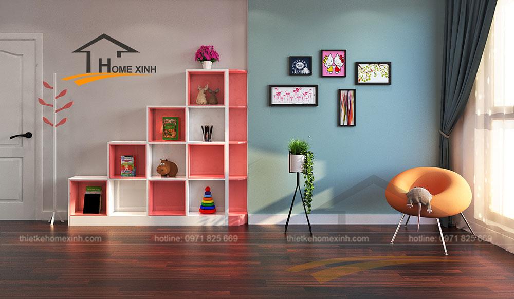 Phòng ngủ con gái căn 2212 chung cư Sunshine Palace - ảnh 2