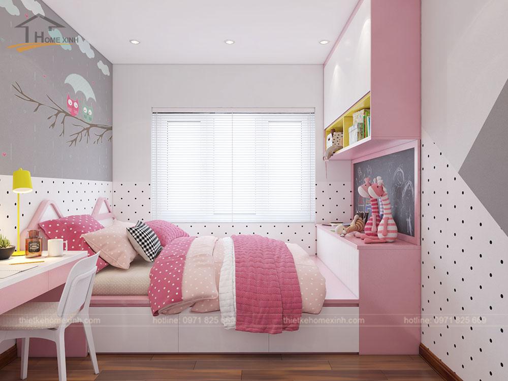 Phòng ngủ con gái căn 06 tòa A1 - ảnh 2