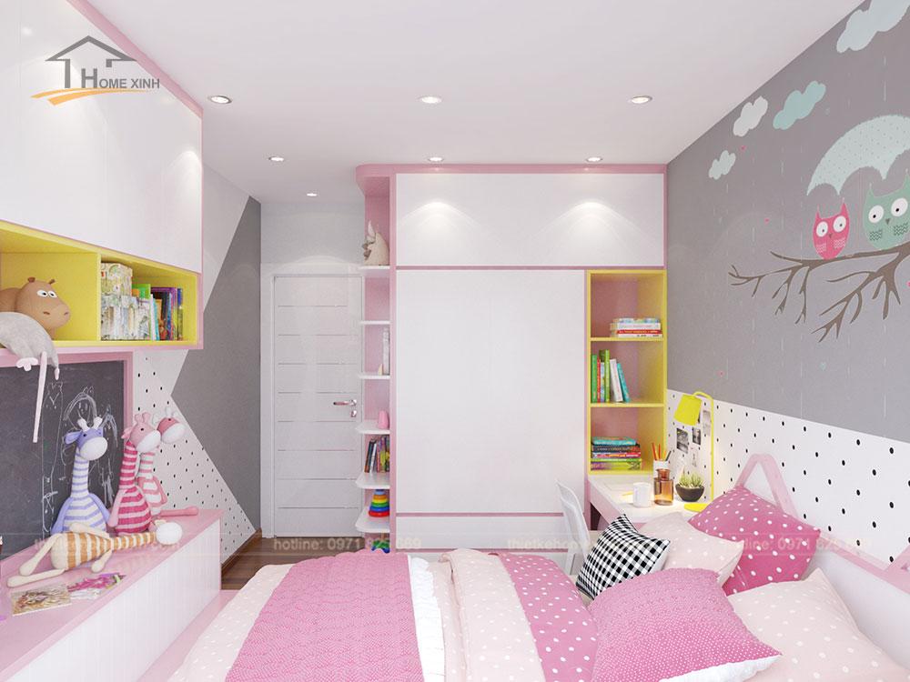 Phòng ngủ con gái căn 06 tòa A1 - ảnh 3