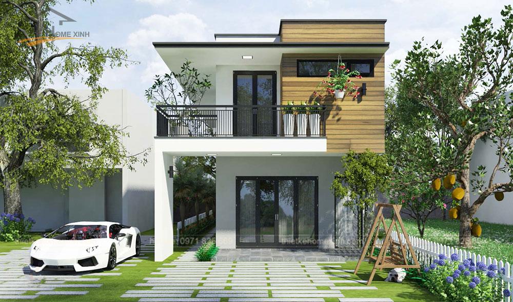 Homexinh, Thiết kếmặt tiền nhà phố 5m tại Hải Phòng