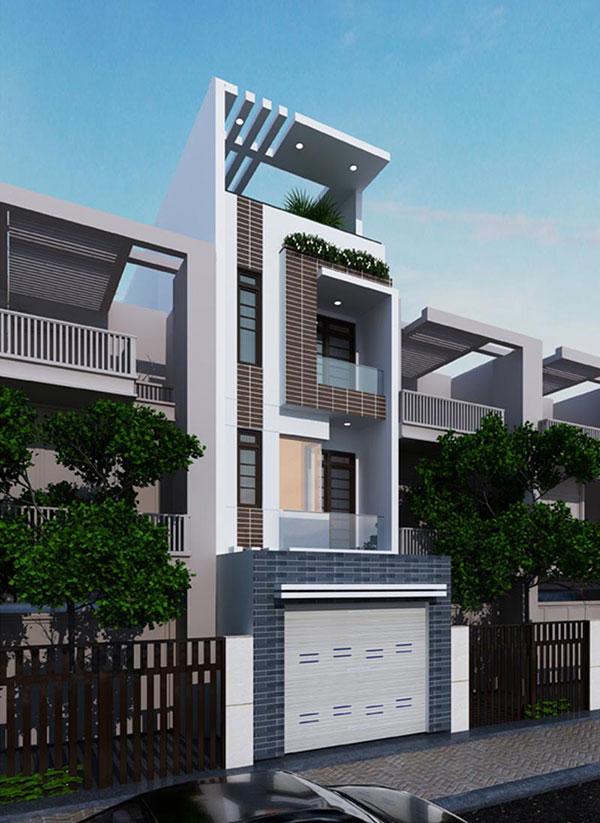 Góc nghiêng mẫu thiết kế nhà phố rộng 4m hiện đại