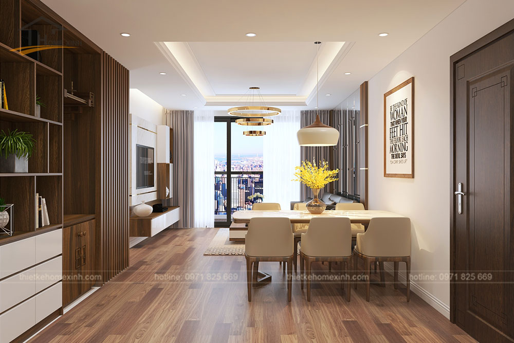 Ánh sáng tự nhiên giúp cho phòng khách thêm thông thoáng hơn