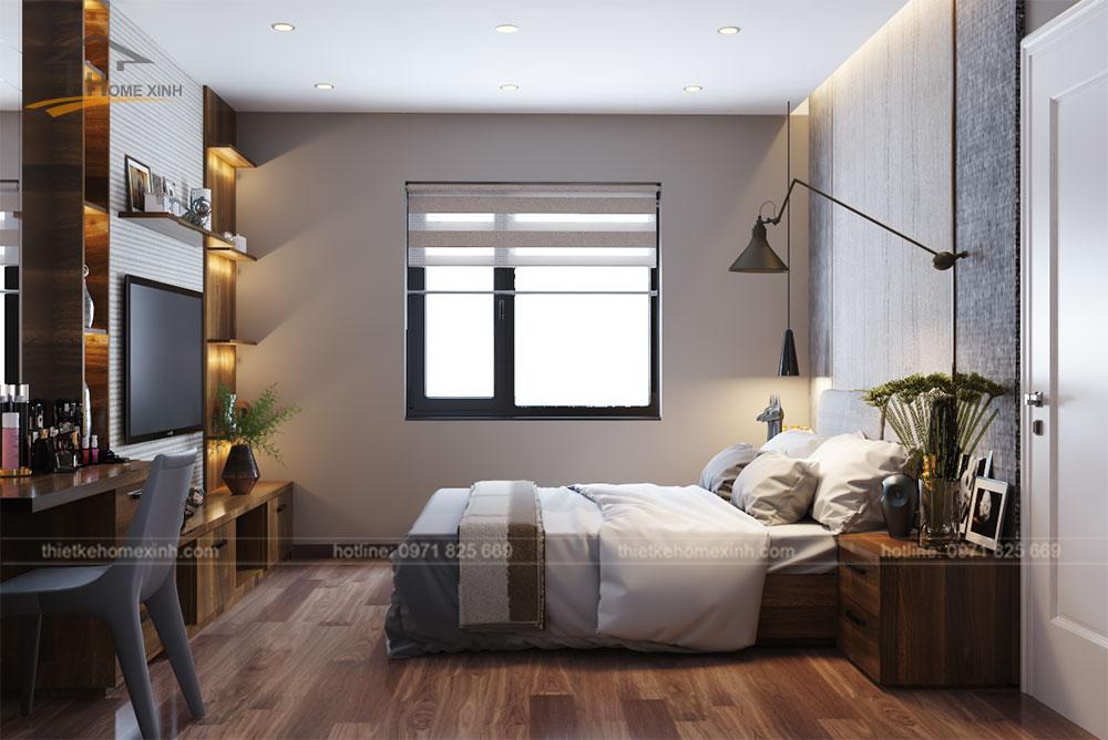 Không gian phòng ngủ master thông thoáng