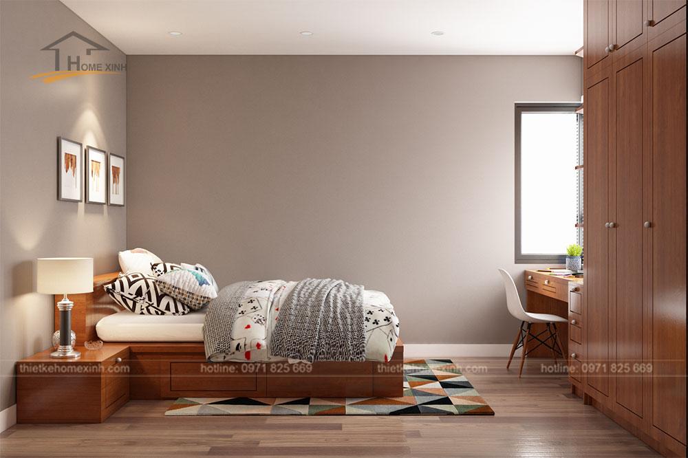 Không gian phòng ngủ nhỏ căn hộ