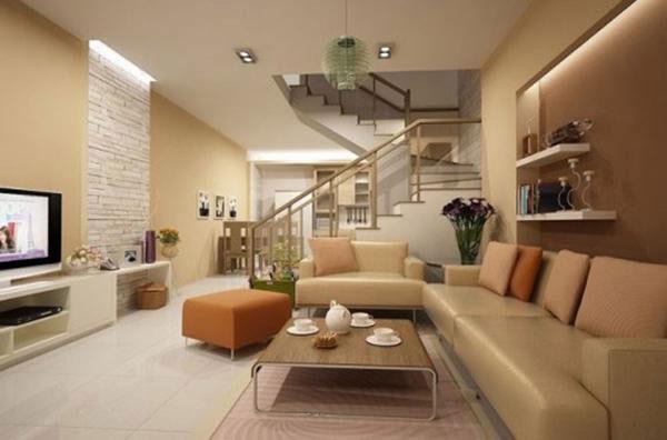 Mẫu nội thất phòng khách nhà ống hiện đại