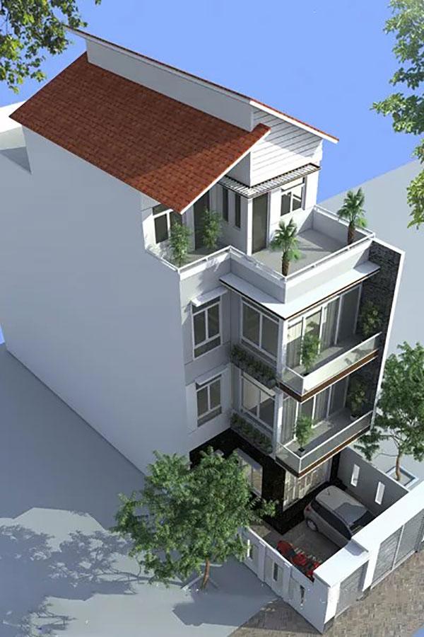 Thiết kế nhà phố 6x17m đẹp 4 tầng tại Bình Dương
