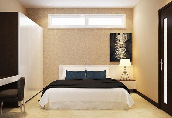 Nội thất phòng ngủ master nhà phố 6x17m 2 tầng tại Tiền Giang