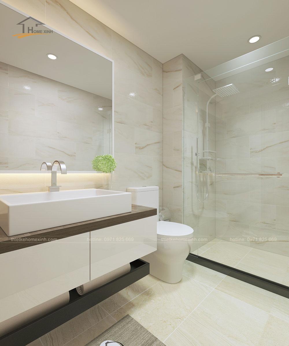 Thiết kế nhà tắm chung cho cả căn hộ