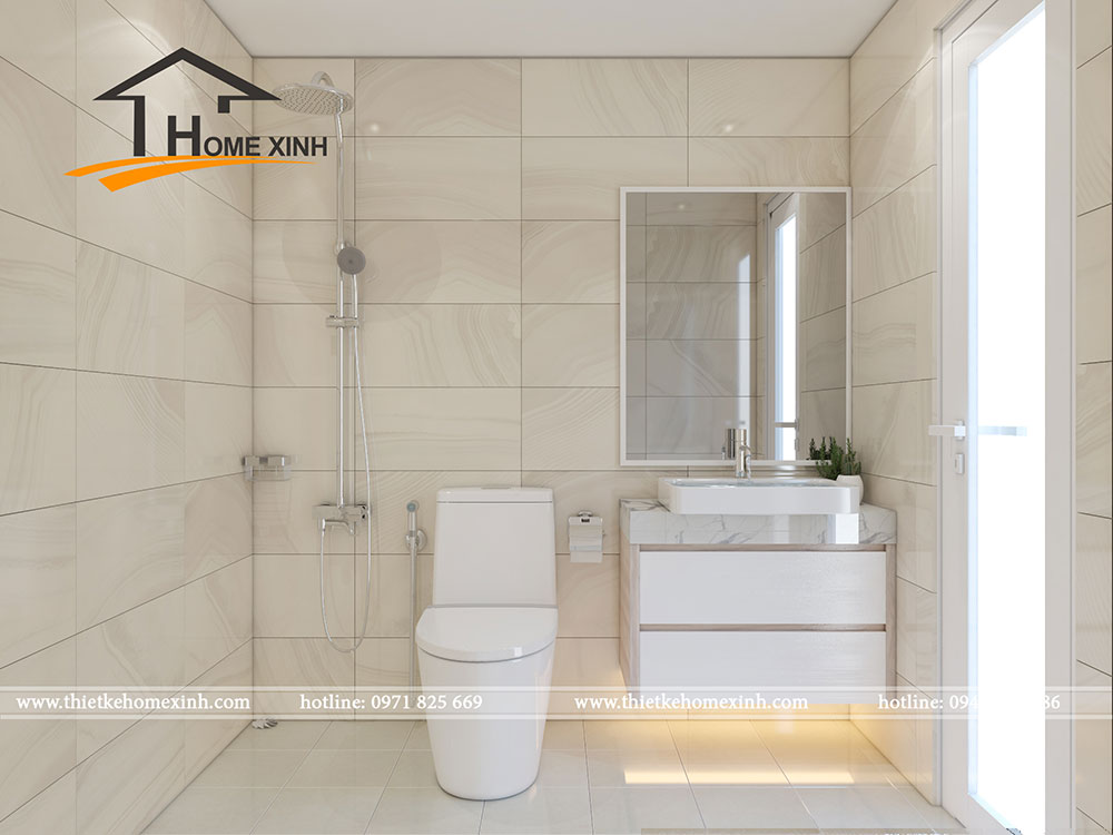 Căn phòng được thiết kế với những thiết bị hiện đại giúp sinh hoạt trở nên dễ dàng, tiện nghi hơn