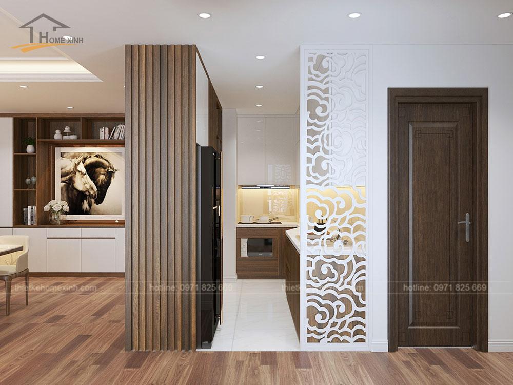 Thiết kế bếp chung cư CT14 Greenpark
