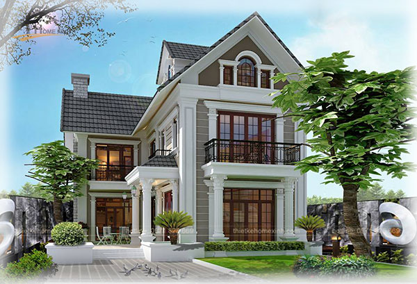 HomeXinh - Mẫu thiết kế biệt thự phố 11