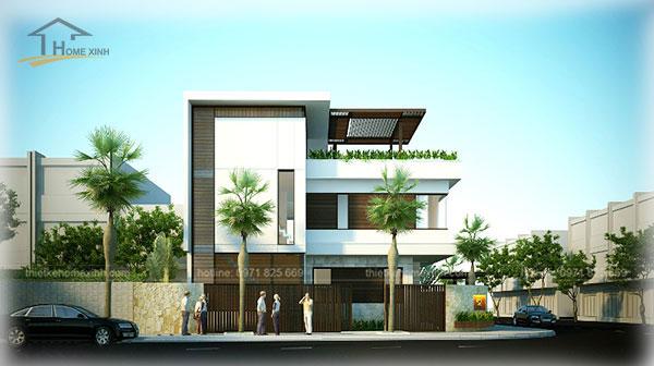 HomeXinh - Mẫu thiết kế biệt thự phố 12
