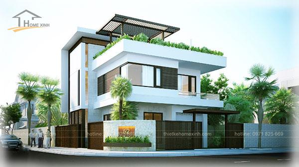 HomeXinh - Mẫu thiết kế biệt thự phố 13