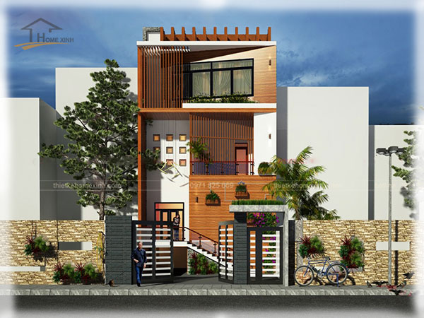 Mẫu thiết kế biệt thự phố 3